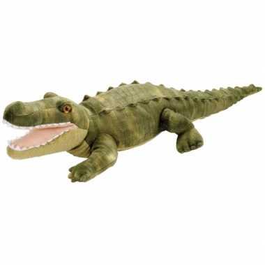 Baby pluche knuffeltje krokodil groen