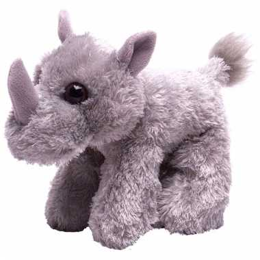 Baby pluche knuffeltje neushoorn grijs