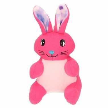 Baby pluche konijn/paashaas knuffel roze