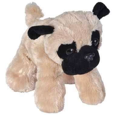 Baby pluche mopshondje knuffel