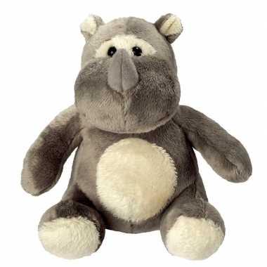 Baby pluche neushoorn knuffel