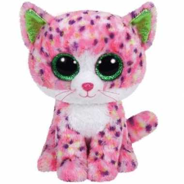 Baby pluche poes/kat knuffels sophie ty beanie