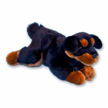 Baby pluche rottweiler liggend knuffel