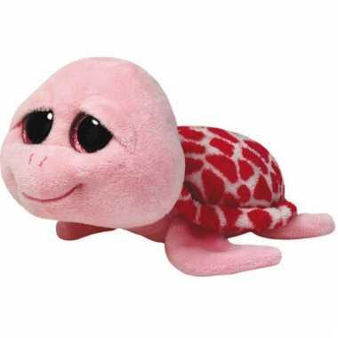 Baby  Pluche Ty Beanie schildpad roze knuffel