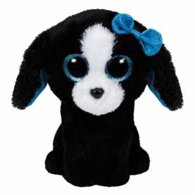 Baby pluche zwarte hond knuffel ty beaniecm