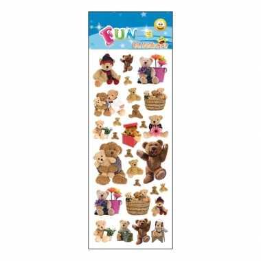 Baby  Poezie album stickers teddyberen knuffel