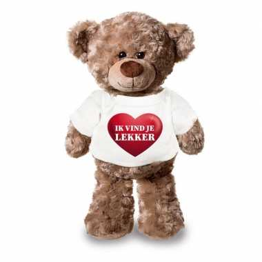 Baby romantisch cadeau ik vind je lekker hartje knuffel beer