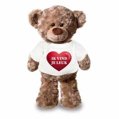 Baby romantisch cadeau ik vind je leuk hartje knuffel beer