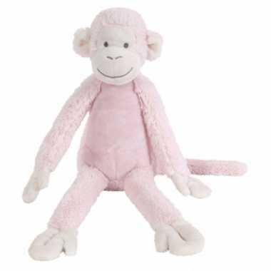Baby  Roze Happy Horse aap knuffel