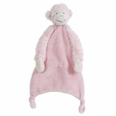 Baby roze mickey tuttel aapje knuffel