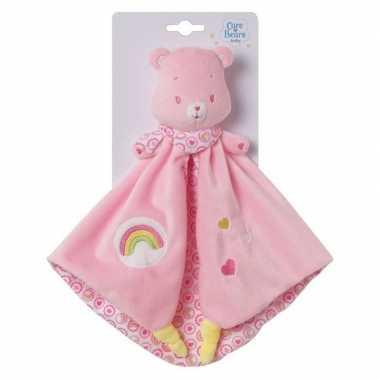 Baby roze troetelbeer knuffeldoek