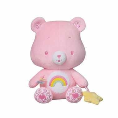 Baby roze troetelbeer knuffelrammelaar