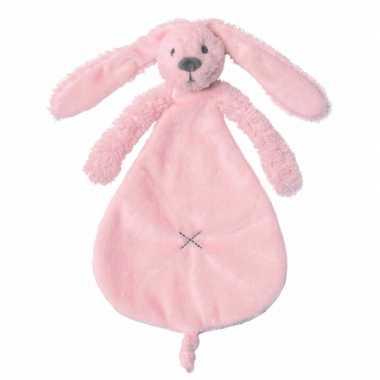 Baby  Roze tutteldoekje konijn knuffel