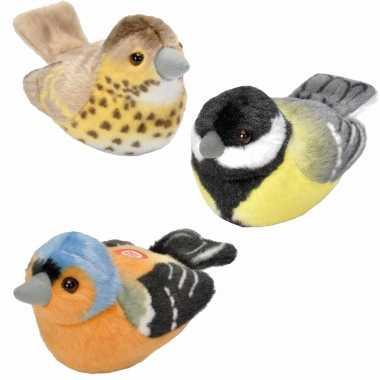 Baby set stuks pluche vogels knuffels geluid 10274831