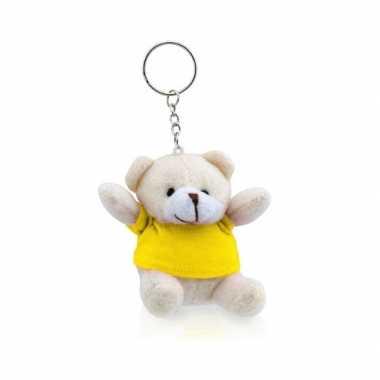 Baby  Sleutelhanger beer geel knuffel