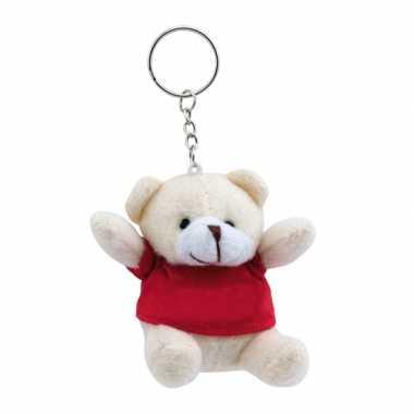 Baby  Sleutelhanger beer rood knuffel
