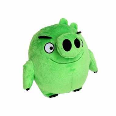 Baby speelgoed angry birds knuffels groen varken