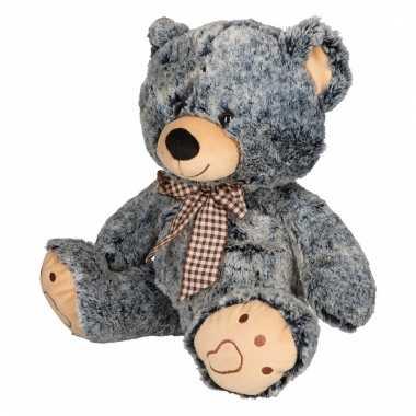 Baby speelgoed beren knuffel grijs/zwart