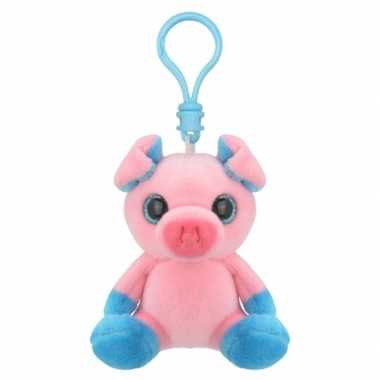 Baby speelgoed biggetje sleutelhanger knuffel
