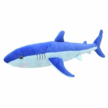Baby speelgoed blauwe haai knuffel