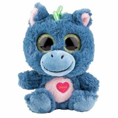 Baby speelgoed draken knuffel blauw