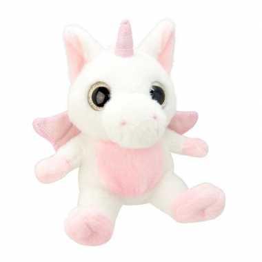 Baby speelgoed eenhoorn knuffel wit/roze