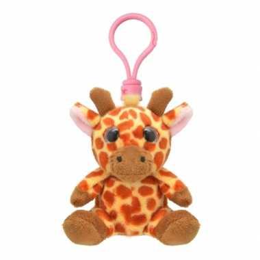 Baby speelgoed giraf sleutelhanger knuffel