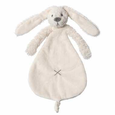 Baby speelgoed ivoren konijnen knuffeldoekje richie