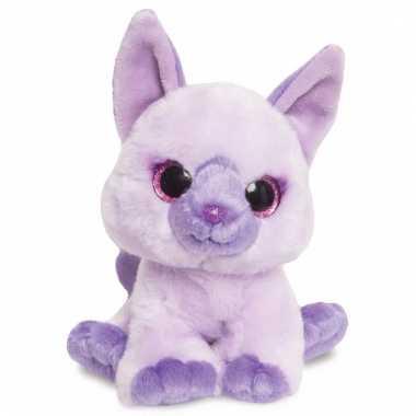Baby speelgoed katten knuffel paars