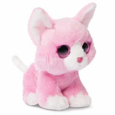 Baby speelgoed katten knuffel roze