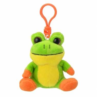 Baby speelgoed kikker sleutelhanger knuffel
