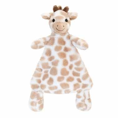 Baby speelgoed knuffeldoekje girafje bruin