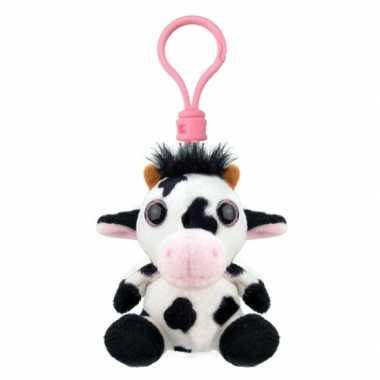 Baby speelgoed koe sleutelhanger knuffel