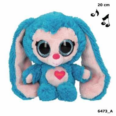 Baby speelgoed konijnen knuffel blauw