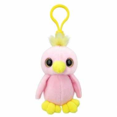 Baby speelgoed papegaai sleutelhanger knuffel
