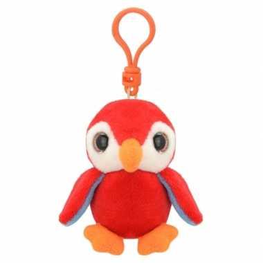 Baby speelgoed rode pinguin sleutelhanger knuffel