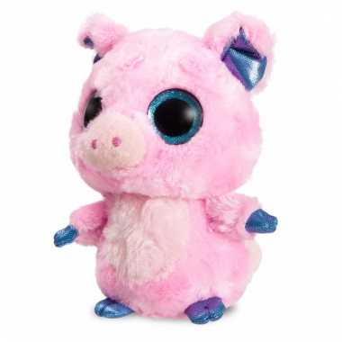 Baby speelgoed roze varken knuffel