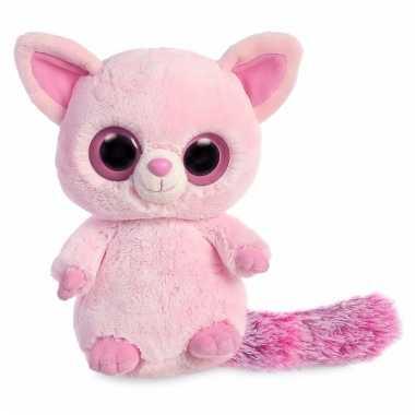 Baby speelgoed roze vos knuffel