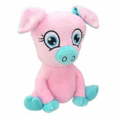 Baby speelgoed varken knuffel roze