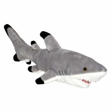 Baby speelgoed zwartpunt haai knuffel