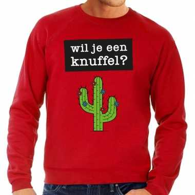 Baby toppers wil je een knuffel tekst sweater rood
