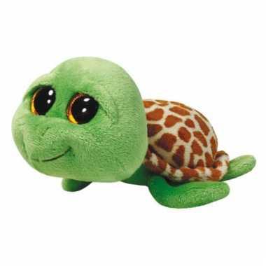 Baby ty beanie knuffel schildpad groen