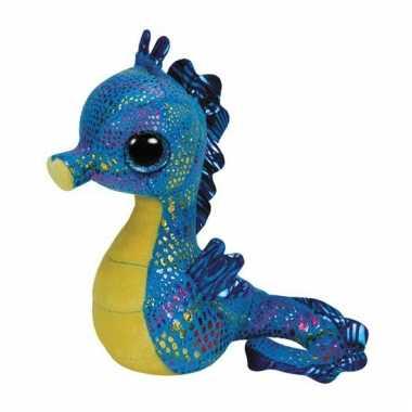 Baby ty beanie knuffel zeepaardje blauw