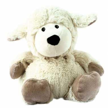 Baby warme knuffel schaap wit