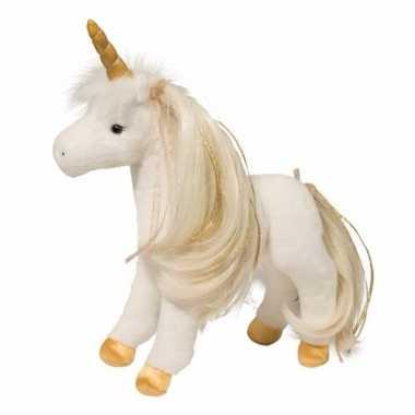 Baby witte paarden knuffel kam