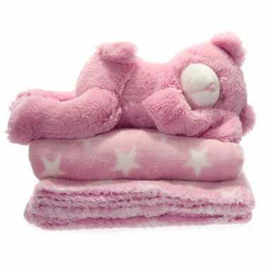Fleece Deken Baby.Baby Woondecoratie Fleece Deken Kleed Wi Sterretjes Knuffel Baby