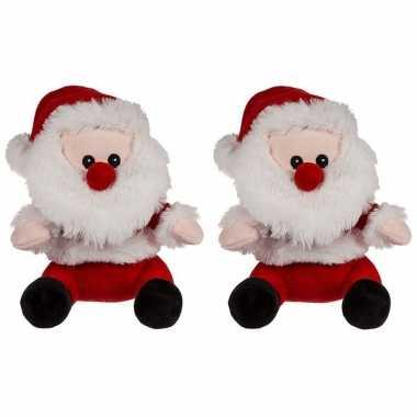 Baby x kerst knuffels pluche kerstman 10244542