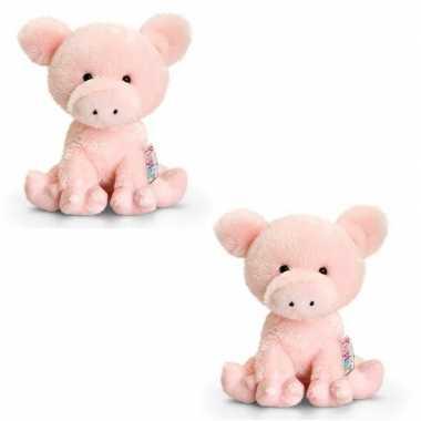 Baby x knuffels varken roze