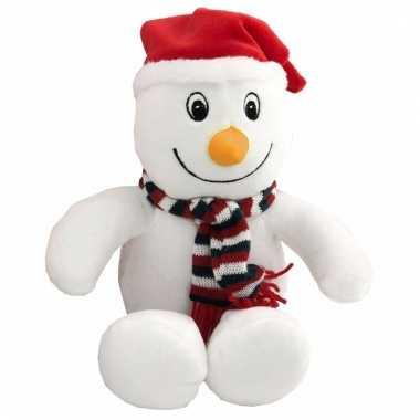 Baby zacht pluche sneeuwpop knuffel