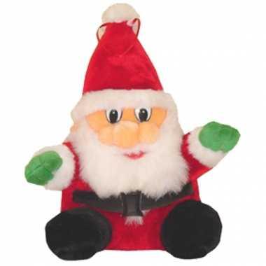 Baby zittende kerstman knuffel